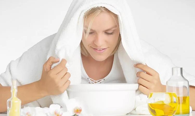 Паровая ванночка с эфирным маслом