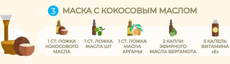 Маска с маслом арганы и витамином Е и кокосом