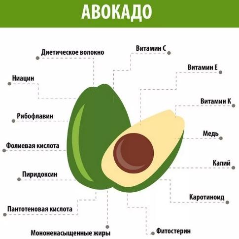 Витаминный состав авокадо