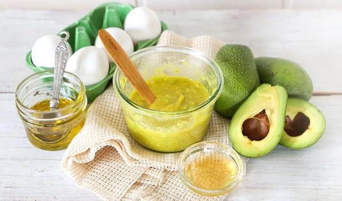 Маска с маслом авокадо, желтком и медом