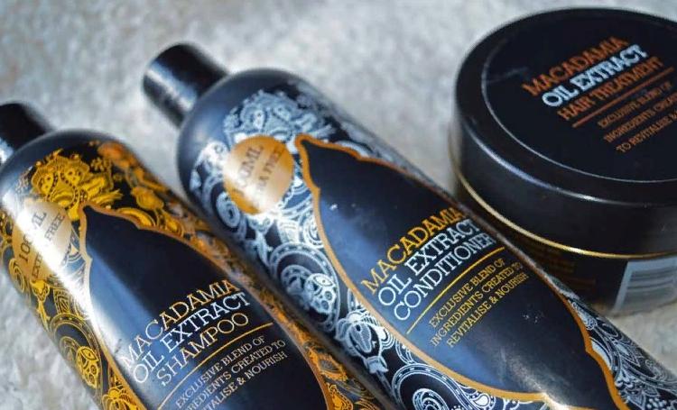 Шампунь, бальзам и маска с маслом макадамии для волос
