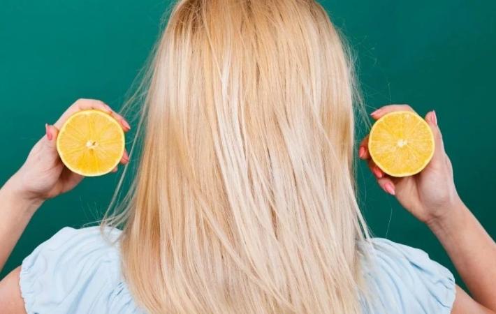 Осветление прядей маслом лимона
