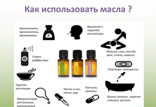 Как можно использовать масла
