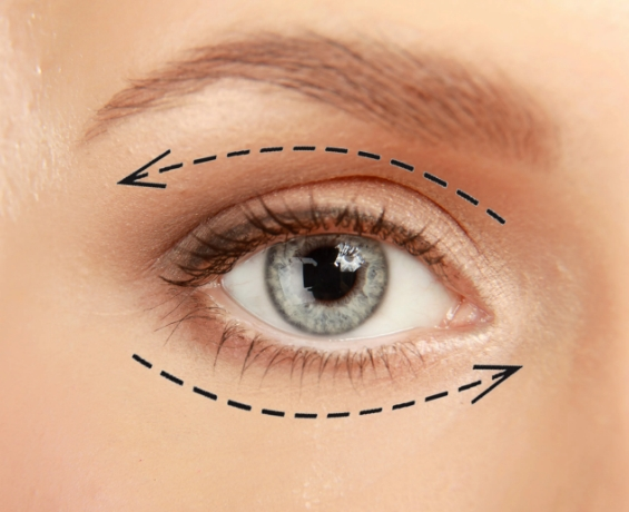 Как нанести масло вокруг глаз